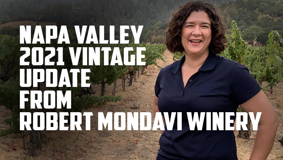 2021 vintage update from Nova at Robert Mondavi Winery